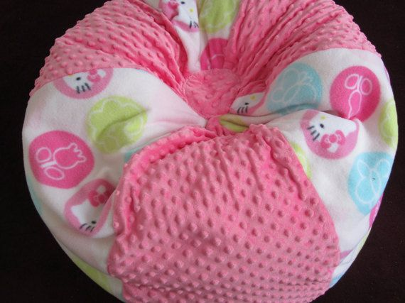 HELLO KITTY Bean Bag Chair With Name  SALE Price   Immediate Shipment     Floor Pillow   Stuffed Toy And Extra Bedding Storage