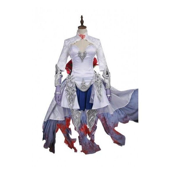 SINoAlice Snow White Cosplay Costume ($333) ❤ liked on Polyvore featuring costumes, snow white costume, role play costumes, cosplay costumes, snow white halloween costume and cosplay halloween costumes