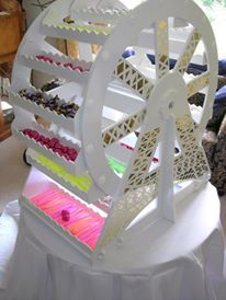 Ferris wheel cupcake/lolly stand Available for sale via www.facebook.com/cakestandsolutionsaustralia