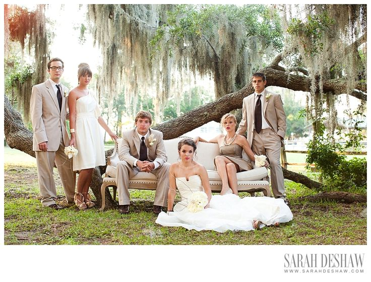 vanity fair  bridal party photo with beachview tent rentals