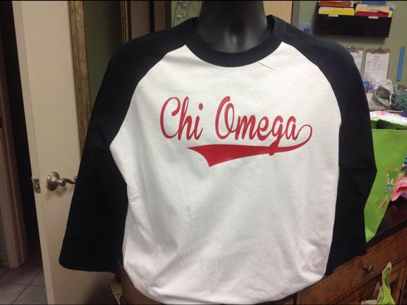 Sorority and Fraternity Raglan Baseball Tshirt, you choose colors and greek Please specify which fraternity or sorority youd like and the color