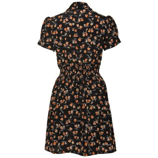 Jasmine Black Owl Print Dress (26 AUD) ❤ liked on Polyvore featuring dresses, owl dress, owl print dress and jasmine dress