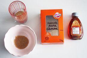 Gommage maison & hydratation des jambes  – 75g de sucre de canne/roux (Vous pouvez prendre du sucre blanc pour un gommage plus léger) – 2 cuillères à soupe de miel – 1 à 2 cuillère à café d'huile d'amande douce (conseillée) ou d'olives – Un citron
