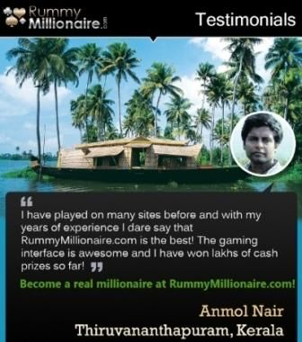 See what our esteemed player Mr. Anmol Nair has to say about his #rummy experience at RummyMillionaire.com!