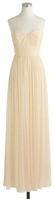 Petite Marbella long dress in silk chiffon