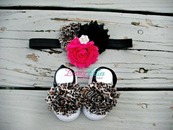 Baby Headband & Baby Barefoot Sandals by LovelyLiliesBoutique, $12.00