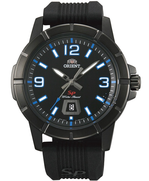 ORIENT Sport Black Rubber Strap  Τιμή: 103€  http://www.oroloi.gr/product_info.php?products_id=32049