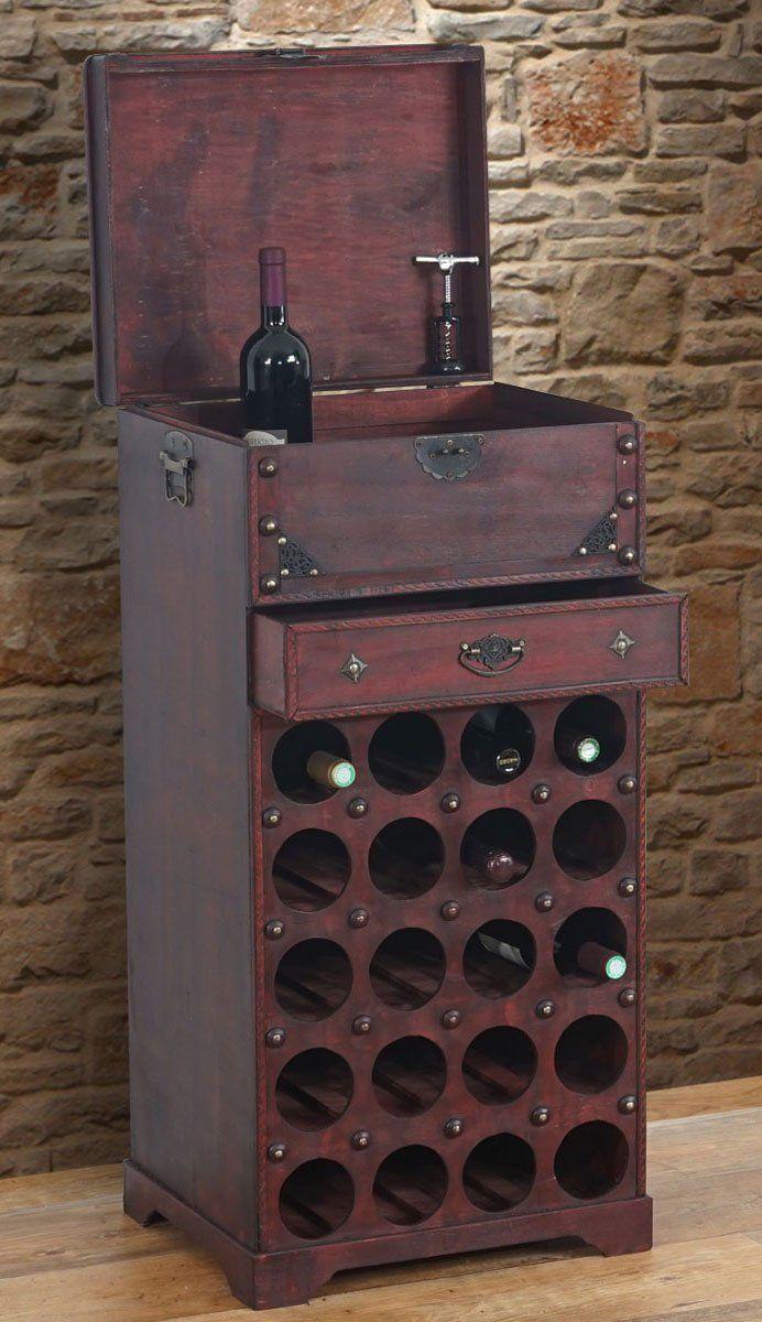 Portabottiglie per vini Calvados in legno stile coloniale ~ T109 20 bottiglie: Amazon.it: Casa e cucina