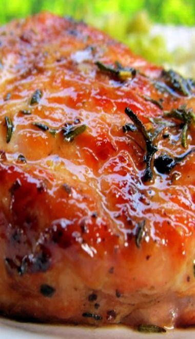 Grilled Honey Rosemary Pork Chops