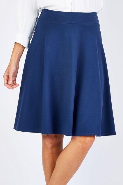 bird keepers The Ponte Flip Skirt - Womens Knee Length Skirts at Birdsnest Women's Clothing