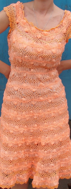 Hairpin lace crochet dresses