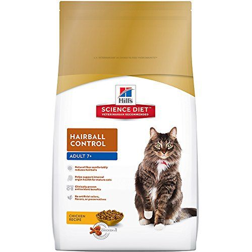 Hills Science Diet Adult 7+ Hairball Control cat food provides precisely balanced nutrition to help avoid hairball formation in older cats.   Health Benefits:Hairballs  Lifestage:Senior  Ingredients C...