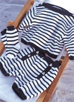 striped nautical themed baby outfit