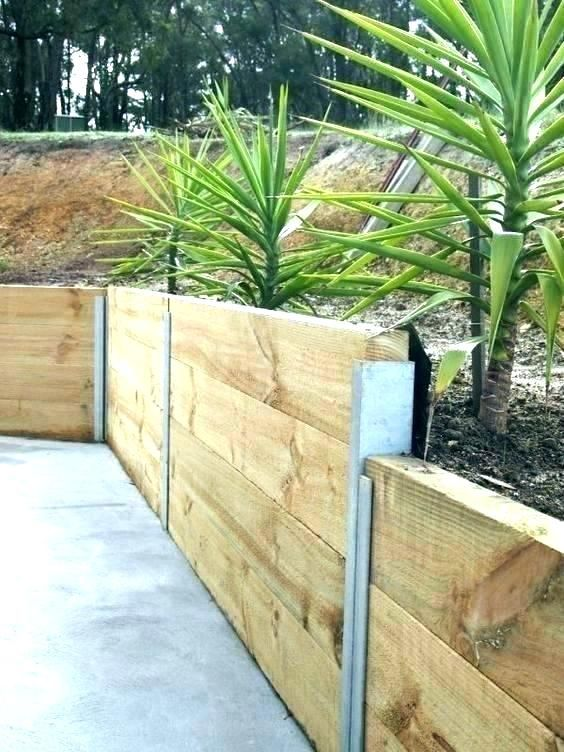 Inexpensive Retaining Wall Systems Best Wood For Garden Ideas Est