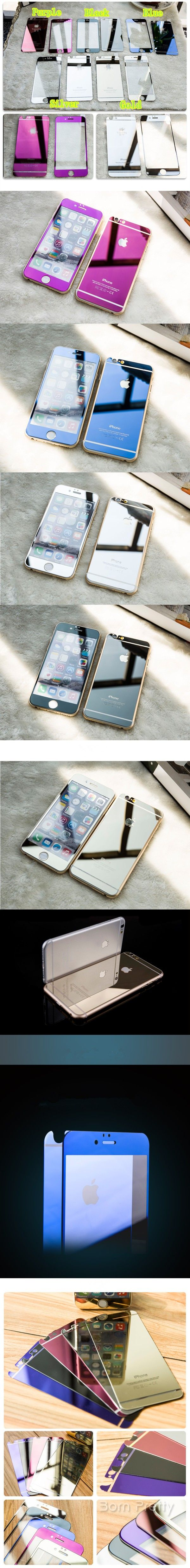$12.72 Front & Back Screen Protector For iPhone 6/iPhone 6 Plus Tempered Glass Screen Protector Film - BornPrettyStore.com