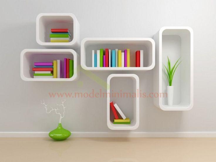 Model Rak Buku Di Dinding Desain Modern