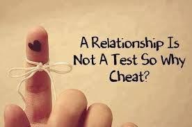 Une relation que ça soit en amour ou en amitié, ce n'est pas un test. Donc pourquoi tricher. Reste juste toi-même.