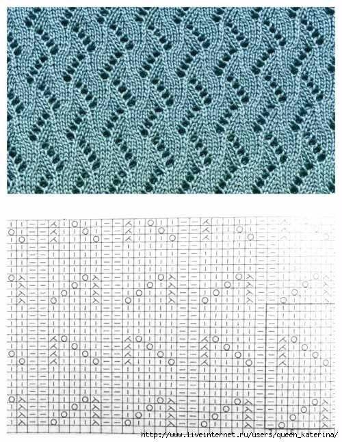 2223-14 (500x646, 247Kb) | Puntos dos agujas | Encaje tejido, Agujas ...