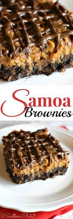 Samoa Brownies – and my time as a Cub Scout