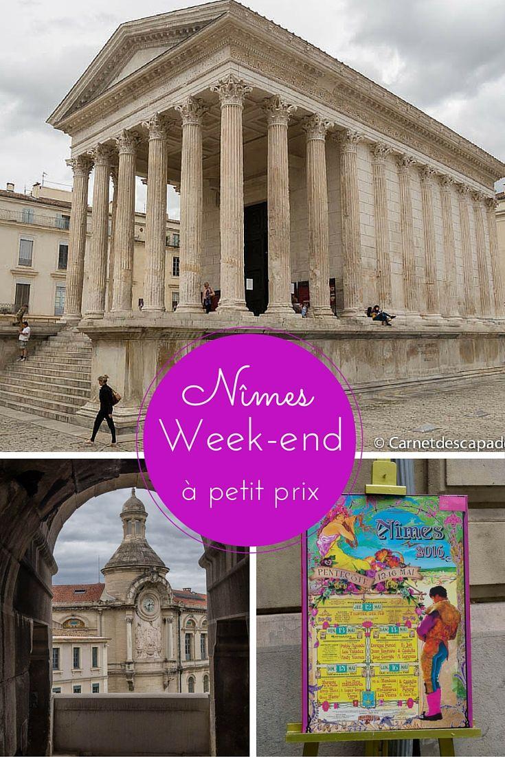 Idée de week-end à petit prix: visite de la jolie ville de Nîmes dans le sud de la France
