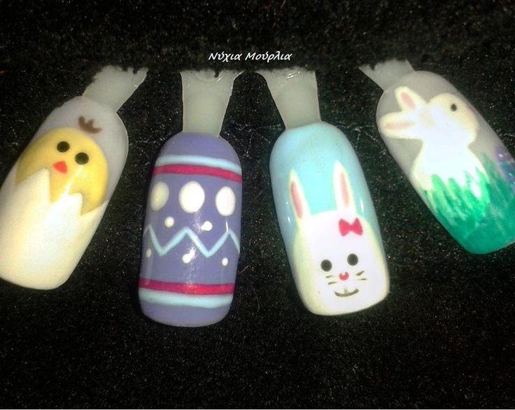 Nailart~Handmade nailart~Easter nails