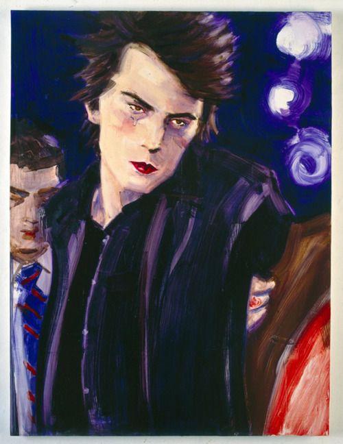 Elizabeth Peyton, Sid Vicious Arrested, Chelsea Hotel, 1998, oil on canvas, 101,5 x 76 cm