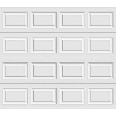 Clopay Premium Series 9 ft. x 7 ft. 18.4 R-Value Intellicore Insulated Solid White Garage Door-HDP20_SW_SOL at The Home Depot