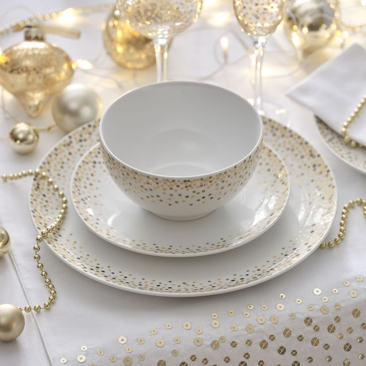 Add some sparkle to you Christmas dinner with our sparkle dinnerware. & 7 best christmas table images on Pinterest | Cutlery Dining sets ...