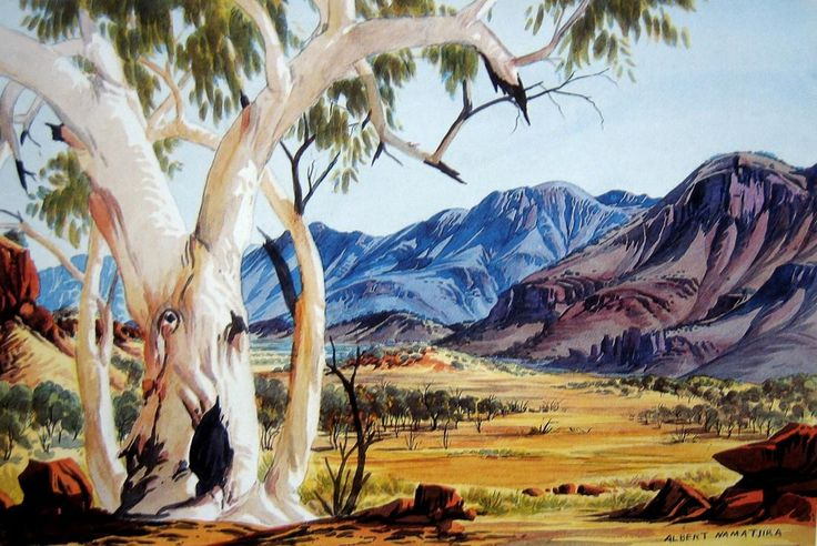 Ghost Gum Central Australia by Albert Namatjira