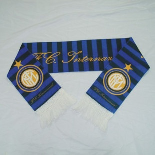 inter milan scarf/fan scarves Material: short plush Size: 150 * 18cm Packing: OPP