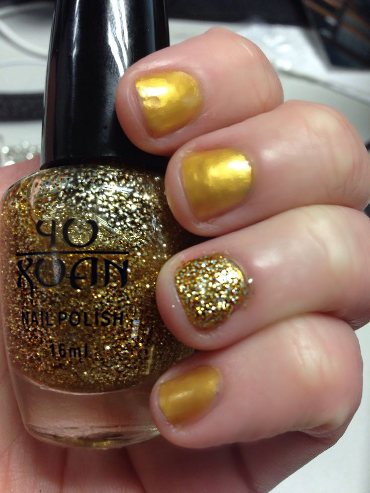 Gold with gold glitter