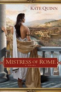 """La portada original de """"La concubina de Roma"""" de Kate Quinn."""
