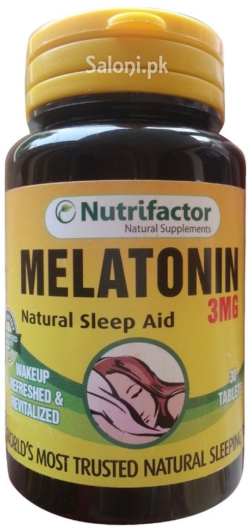 Nutrifactor Melatonin Natural Sleep Aid 3MG is considered world's most trusted natural sleeping pill.