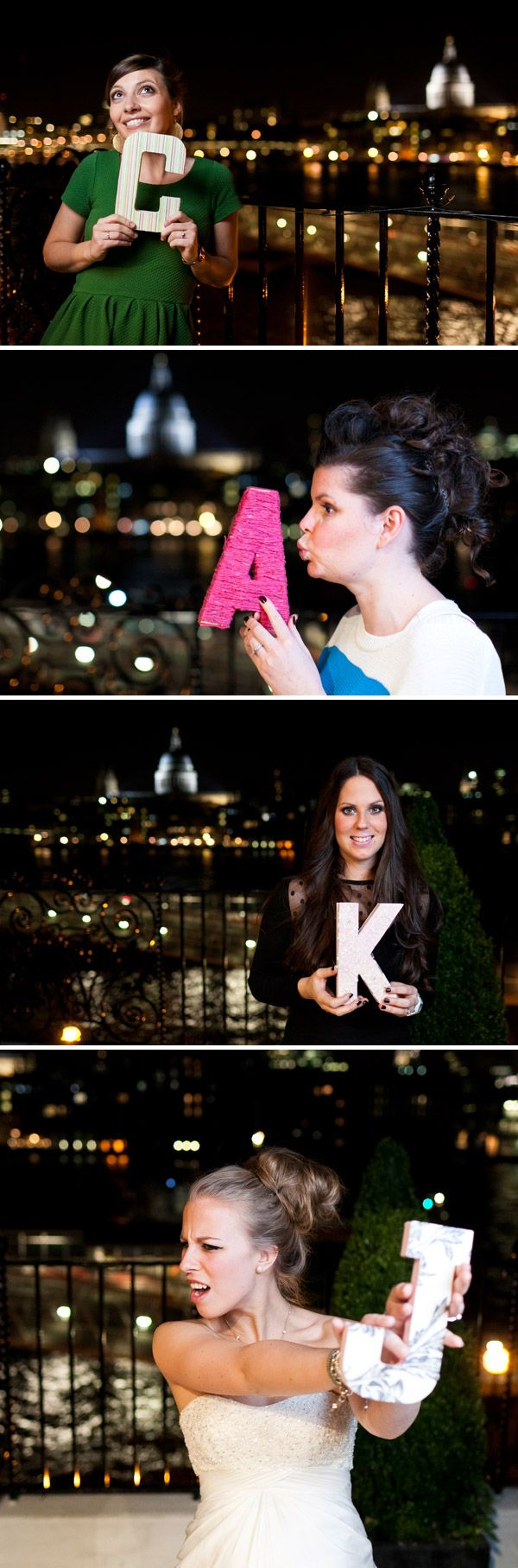 A crafty Hens Night idea. Start the night with DIY initial decorating. Then take those letters into town. Or not :)