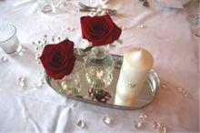 Blomsterdekorasjoner til bryllup.