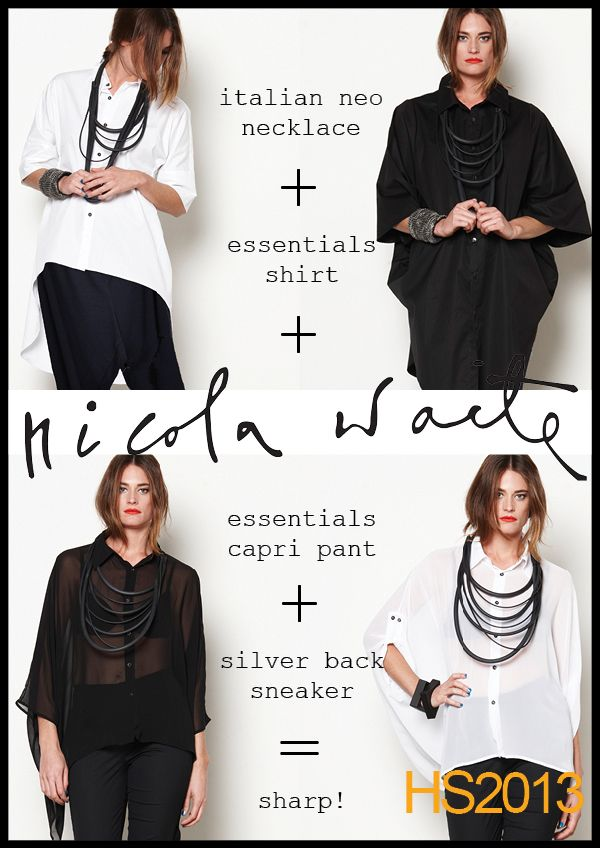 Create the best look with our new season shirts, in black and white.