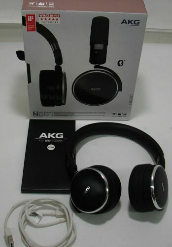 ff4a361ec35 AKG N60NC Noise Cancelling Wireless Headphones, Black | Headphones ...