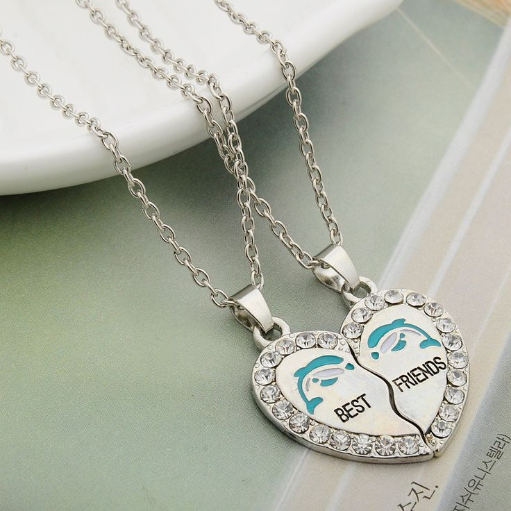 LIMITED TIME ONLY! Get your Dolphin Friendship Heart Necklaces (2 Matching Necklaces) today! Proceeds from every sale go to the World Wildlife Fund (WWF)! Limit: 5 items per order Necklace Type: Penda