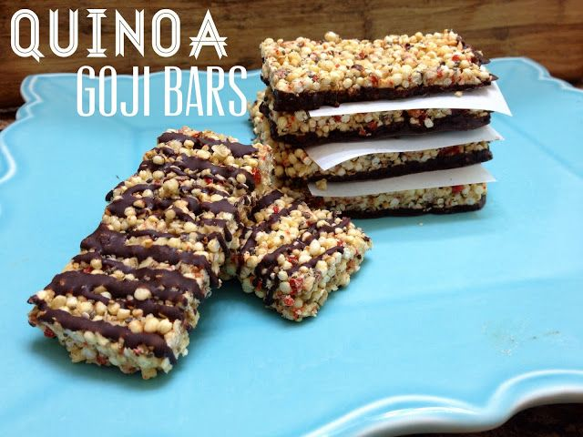 The Road Less Processed: {Eating Clean} Puffed Quinoa & Goji Raw Energy Bars