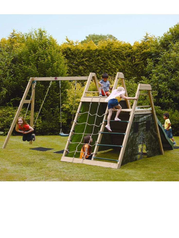 Plum Climbing Pyramid Wooden Climbing Frame | very.co.uk