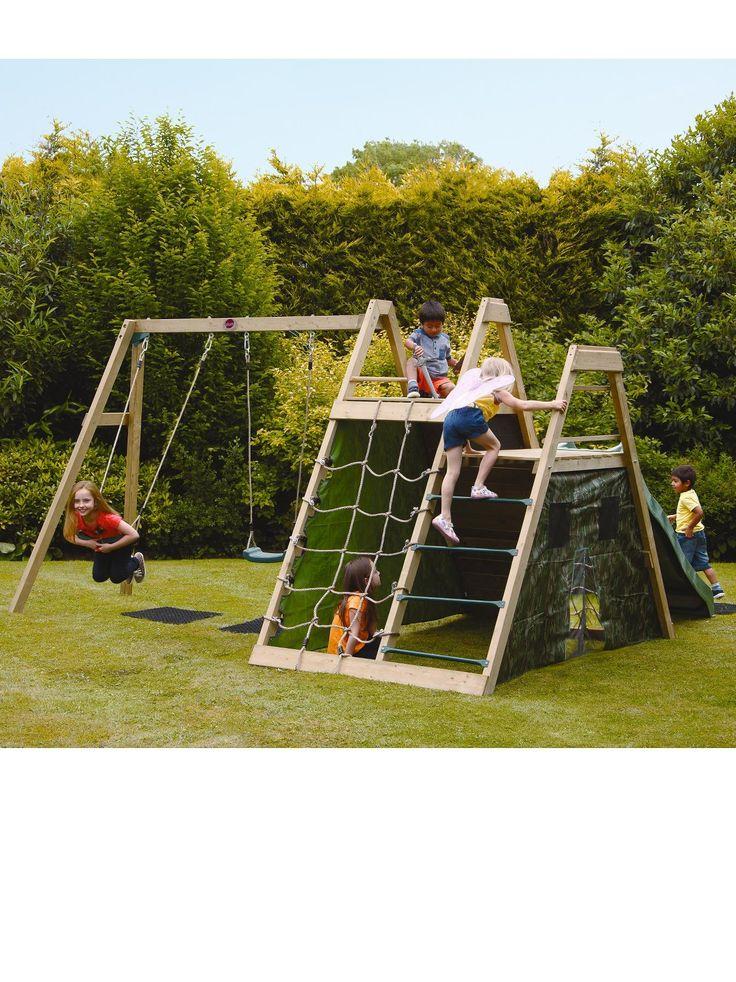 Plum Climbing Pyramid Wooden Climbing Frame | very.co.uk