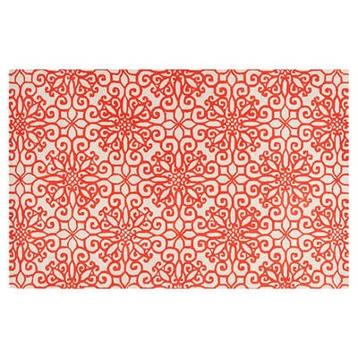 2x3 Bogard Rug, Rust Red/White by One Kings Lane $69 #Olioboard #Product #Sales