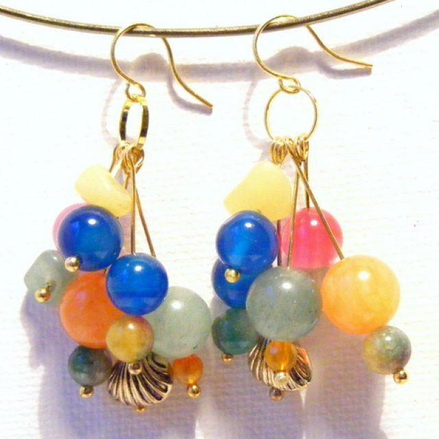 Boucles d'oreilles multicolores / diy earrings