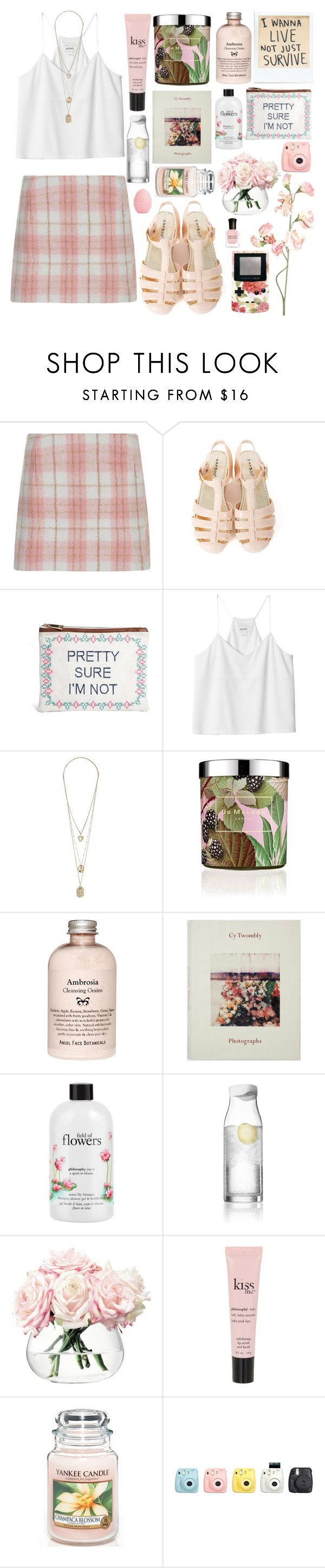 """""""Untitled #126"""" by sophieradley ❤ liked on Polyvore featuring Cameo Rose, ASOS, Monki, Jo Malone, philosophy, Menu, LSA International, Yankee Candle, Fuji and GreenGate"""