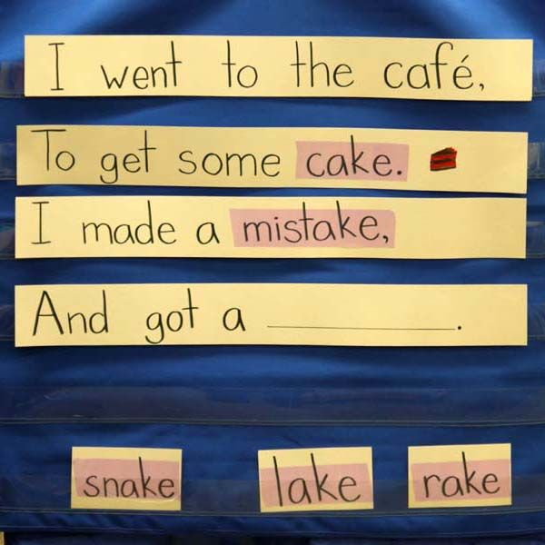 "@balancedlitdiet ---> ""Build Your Own Poem!"" Make rhymes as a class based on spelling patterns."