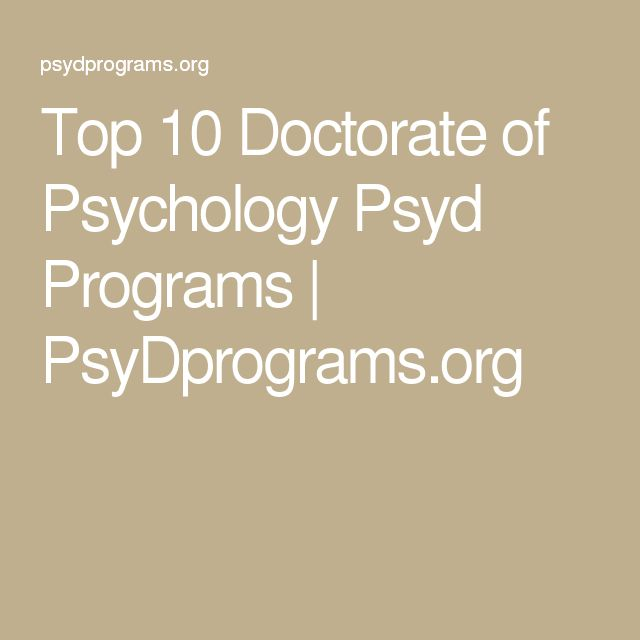 Top 10 Doctorate of Psychology Psyd Programs | PsyDprograms.org