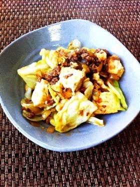 中華風~キャベツと豆腐の肉味噌炒め