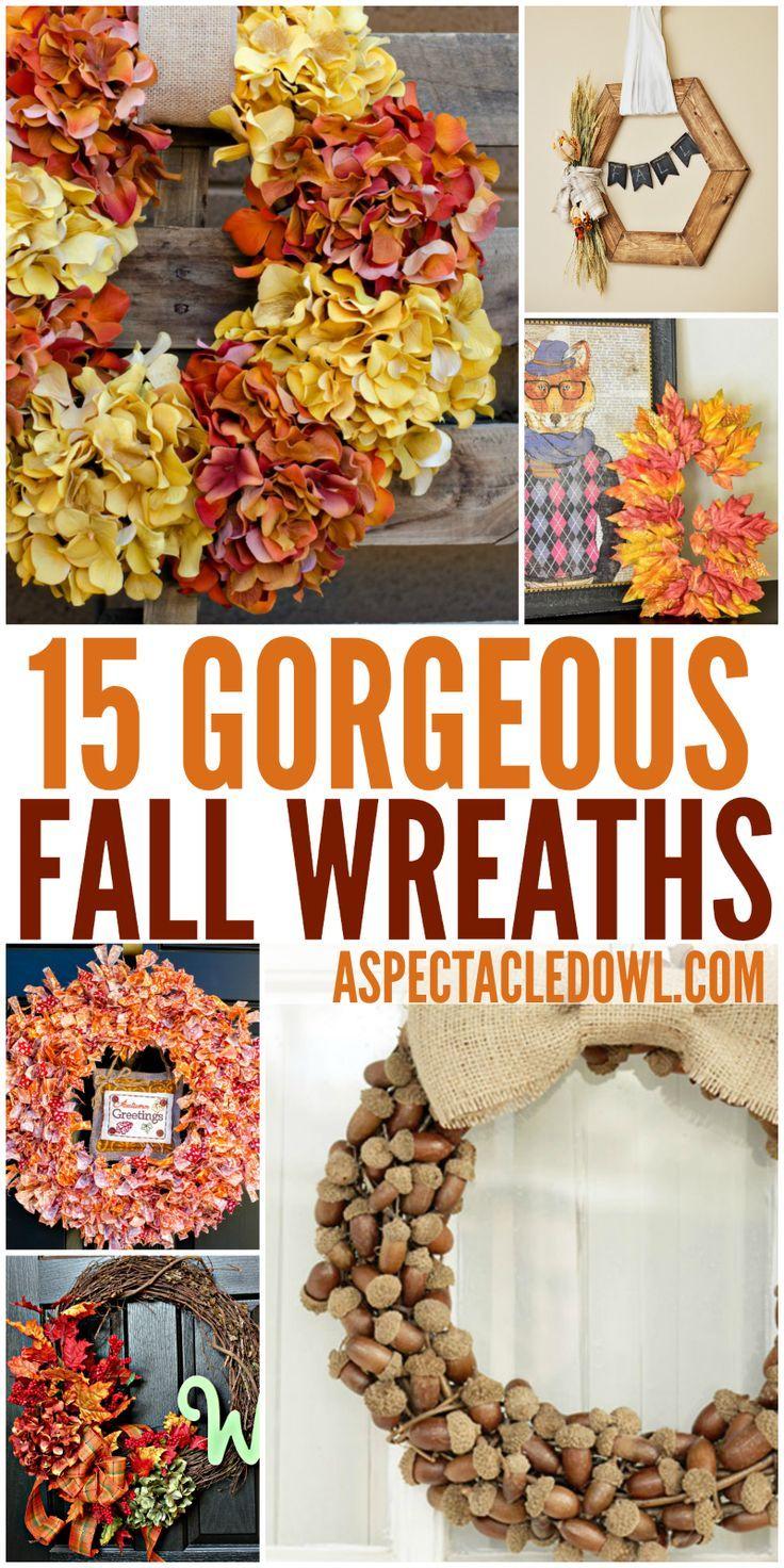 15 Gorgeous Fall Wreaths: