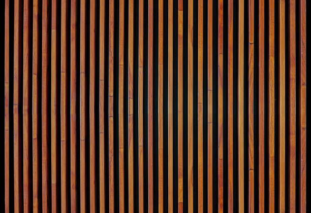 Wood Strips Wall Panel Textured Creative Stock Photo