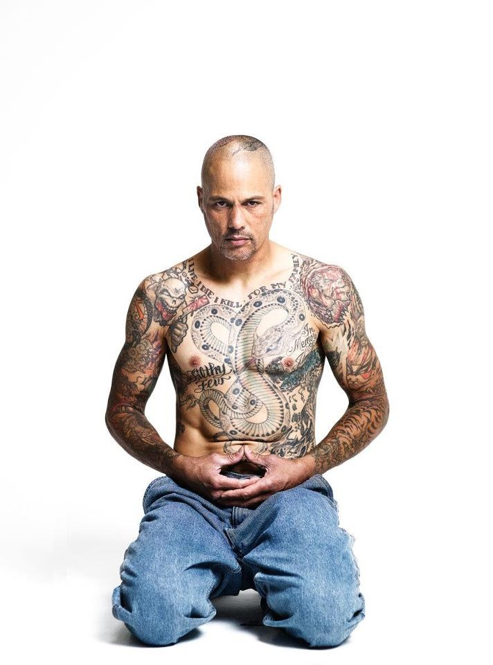 Happy from Sons of Anarchy- one of the few SOA members that actually has real tats and my favorite SOA member.